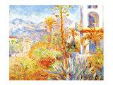 Villas at Bordighera Giclee Print by Claude Monet