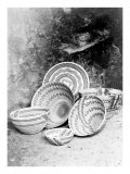 Yokuts Baskets Giclee Print by Edward S. Curtis