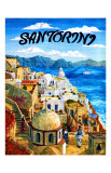 Santorini Island, Greece Giclee Print by Caroline Haliday