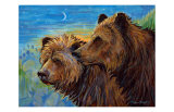 Bear Pair Giclee Print by Georgia Lesley