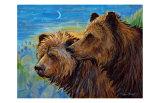 Bear Pair Giclee Print by Georgia Lesley