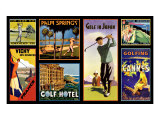 Golf Resorts Giclee Print