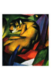 The Tiger Gicleetryck av Franz Marc
