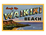 Waikiki Beach Giclee Print