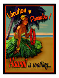 Vacation in Hawaii Giclée-Druck