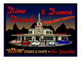 Stans Night Diner Reproduction proc&#233;d&#233; gicl&#233;e