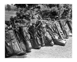 Golf Clubs at the Course Impression giclée