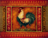 Mediterranean Rooster III Print by Kimberly Poloson