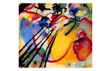 Improvisation Lmina gicle por Wassily Kandinsky