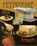 Fettuccine Print by Daphne Brissonnet