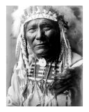 Nez Perc Head Dress Giclee Print by Edward S. Curtis