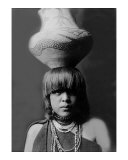 San Ildefonso Girl with Jar Giclee Print by Edward S. Curtis
