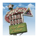 Suzy Cue's Game Room Prints by Anthony Ross