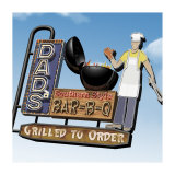 Dad's Southern Style Bar-B-Q Poster by Anthony Ross