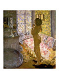 Nude Against the Light Gicleetryck av Pierre Bonnard