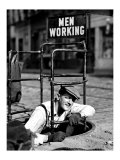 Men Working Giclee Print