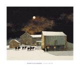 A Pale Moon Kunstdrucke von Peter Sculthorpe