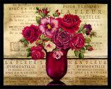 Paris Rose II Art par Kimberly Poloson