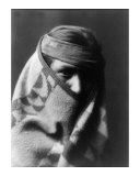 Wrapped in Blanket Giclee Print by Edward S. Curtis
