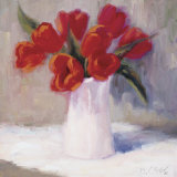 Red Tulips Prints by B. Oliver