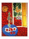 Intérieur rouge Reproduction procédé giclée par Henri Matisse