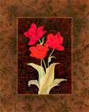 Damask Tulip Prints by Paul Brent