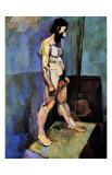 Male Nude Model Giclée-trykk av Henri Matisse