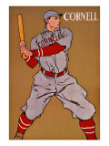 Vintage Cornell Baseball Reproduction proc&#233;d&#233; gicl&#233;e