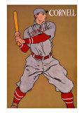 Vintage Cornell Baseball Giclee Print