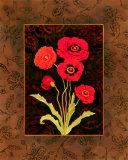 Damask Poppy Prints by Paul Brent