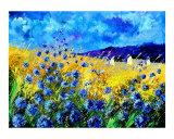 Blue cornflowers 68 Giclee Print by Pol Ledent