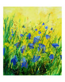 Wild bluebells flowers Giclee Print by Pol Ledent