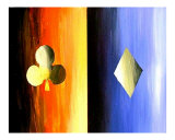 Abstract Casino Suits Giclee Print by Teo Alfonso