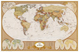 Antica carta geografica del mondo Poster