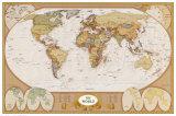 Mapa antiguo del mundo Pósters