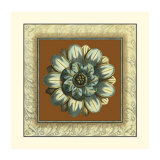 Brown and Blue Rosettes I Giclee Print