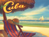 Escape to Cuba Affiches par Kerne Erickson