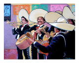Fiesta Mariachi Giclee Print by Rick Kersten