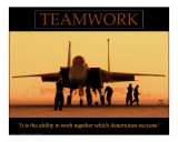 Teamwork Photographic Print by Kevin Oke
