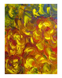 Yellow Glimmer Giclee Print by Karen Jennings