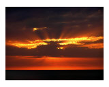 Fire over the Sea Photographic Print by Christopher Pearson