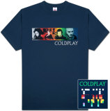 Coldplay - Color Strip T-shirts