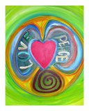 Love Peace Giclee Print by Barbara Aliaga