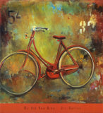 My Old Red Bike Print by Jill Barton