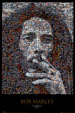 Bob Marley Mosaic Poster