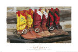 Ranch Boots Print by David R. Stoecklein