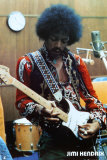 Jimi Hendrix dans son studio Posters