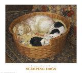 Sleeping Dogs Print by Diana Calvert
