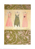 Three Dresses Print by Maria Woods