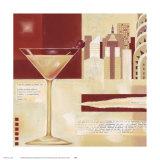 Manhattan Cocktail Art by Lucy Barnard